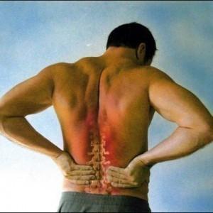 La parte giusta di un dorso a uninclinazione fa male